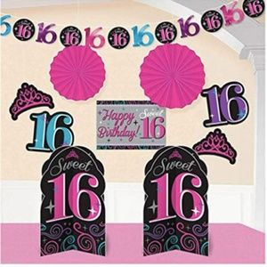 Other - New Sweet 16 Birthday Bundle Kit Decoration & More